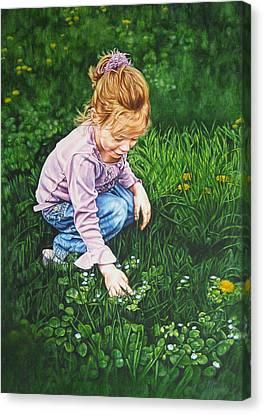 Wonder In A Wildflower Canvas Print