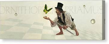 Canvas Print featuring the painting Wonder by Ron Crabb