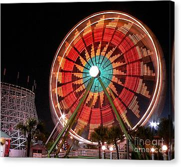 Wonder Wheel - Slow Shutter Canvas Print by Al Powell Photography USA