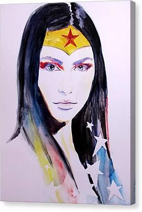 Wonder Woman Canvas Print by Lauren Anne