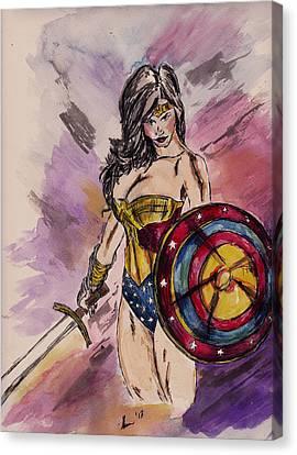 Wonder Woman Canvas Print by Sheena Pape