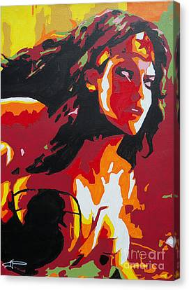 Wonder Woman - Sister Inspired Canvas Print by Kelly Hartman