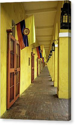 Cartagena Canvas Print - Wonderful Architecture In The San Diego by Jerry Ginsberg