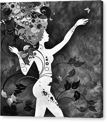Wonderful Bw Canvas Print by Angelina Vick
