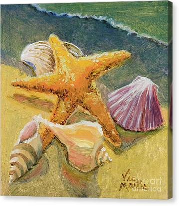 Canvas Print featuring the painting Wonderful Find by Vic  Mastis