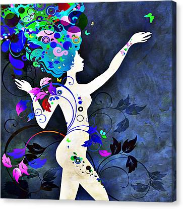 Wonderful Night Canvas Print by Angelina Vick