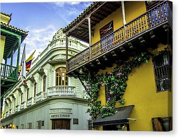Cartagena Canvas Print - Wonderful Spanish Colonial Architecture by Jerry Ginsberg
