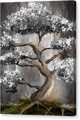 Wonderfully Gray - Shades Of Gray Art Canvas Print by Lourry Legarde