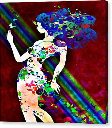 Wondering At The End Of The Rainbow Canvas Print by Angelina Vick