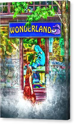 Western North Carolina Canvas Print - Wonderland by John Haldane