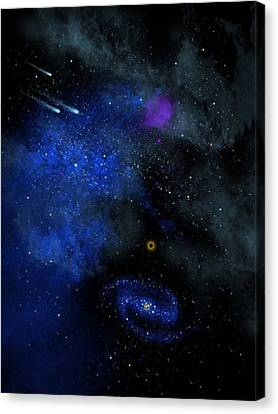 The Universe Canvas Print - Wonders Of The Universe Mural by Frank Wilson