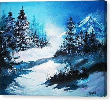 Wonders Of Winter Canvas Print by Al Brown