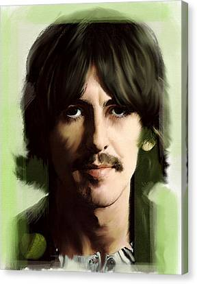 Wondersun George Harrison Canvas Print by Iconic Images Art Gallery David Pucciarelli