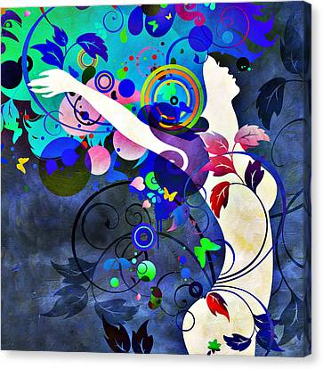 Wondrous Night Canvas Print by Angelina Vick