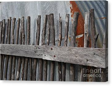 Wood And Rust Canvas Print by Kelly Jones