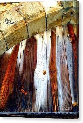 Wood And Stone Canvas Print by Lauren Leigh Hunter Fine Art Photography