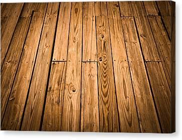 Wood Deck Background Canvas Print
