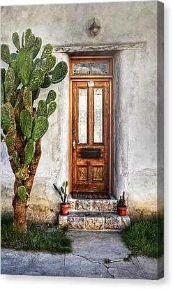 Canvas Print featuring the photograph Wood Door In Tuscon by Ken Smith