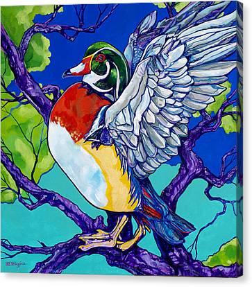 Wood Duck Canvas Print by Derrick Higgins