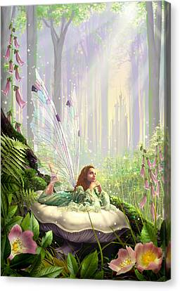 Wood Fairy Canvas Print by Garry Walton