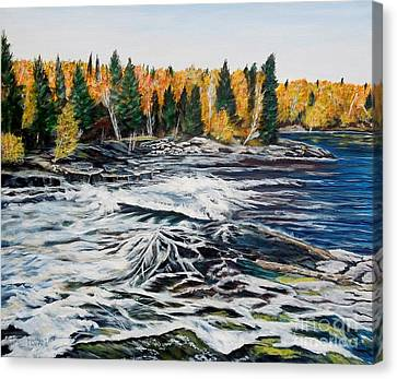 Wood Falls 2 Canvas Print by Marilyn  McNish