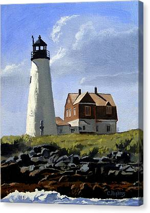 Wood Island Lighthouse Maine Canvas Print