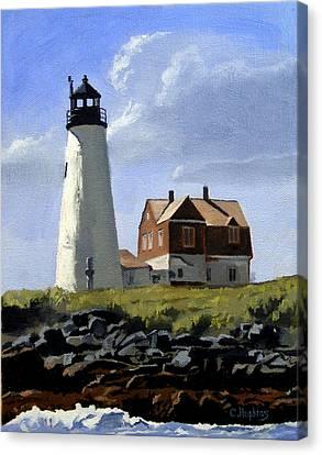 Wood Island Lighthouse Maine Canvas Print