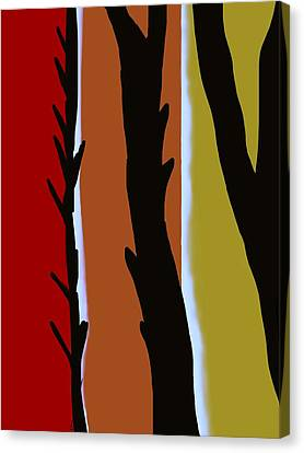 Canvas Print featuring the digital art Wood L by Christine Fournier