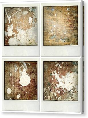 Wood Canvas Print by Les Cunliffe