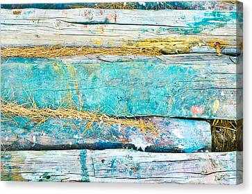 Woodpile Canvas Print - Wood Logs by Tom Gowanlock