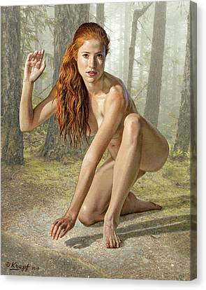 Wood Nymph Canvas Print by Paul Krapf