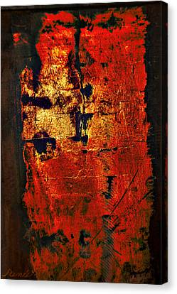 Canvas Print featuring the painting Wood On Fire 3 Painting Original Sold by Renee Anderson
