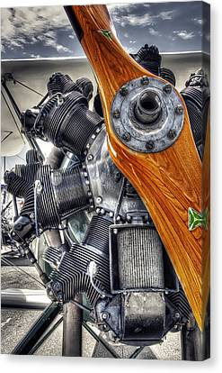 Wood Prop And Engine Canvas Print