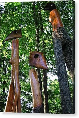 Wood Sculptures Canvas Print by John Wartman