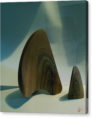 Canvas Print featuring the photograph Wood Zen Harmony by Colette V Hera  Guggenheim