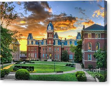 Woodburn Hall Evening Sunset Canvas Print by Dan Friend