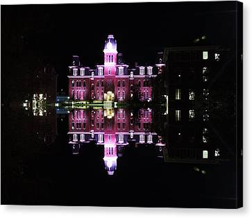 Woodburn Hall Reflection Canvas Print by Cityscape Photography