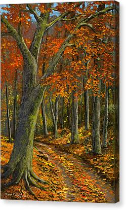 Wooded Road Canvas Print by Frank Wilson
