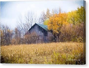 Wooden Autumn Barn Canvas Print