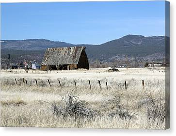 Wooden Barn Near Susanville Canvas Print