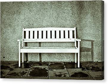 Wooden Bench Canvas Print by Tom Gowanlock
