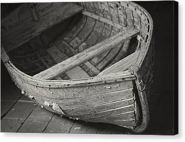 Historic Site Canvas Print - Wooden Boat Fading Away by Mary Lee Dereske