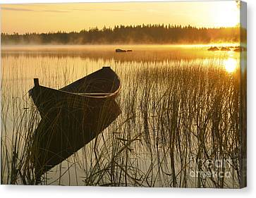 Wooden Boat Canvas Print by Veikko Suikkanen