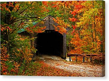 Wooden Bridge Canvas Print by Bill Howard