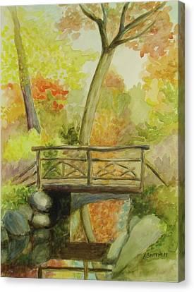 Wooden Bridge Central Park  Canvas Print