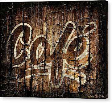 Wooden Cafe Sign Canvas Print by Sheena Pike