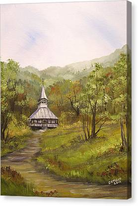 Wooden Church In Transylvania Canvas Print