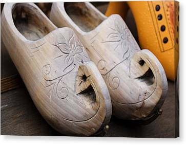 Wooden Clogs Canvas Print by Juli Scalzi