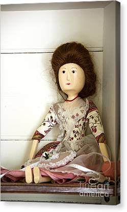 Wooden Doll Canvas Print by Margie Hurwich