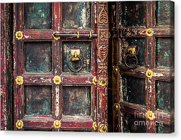 Wooden Door Canvas Print by Catherine Arnas